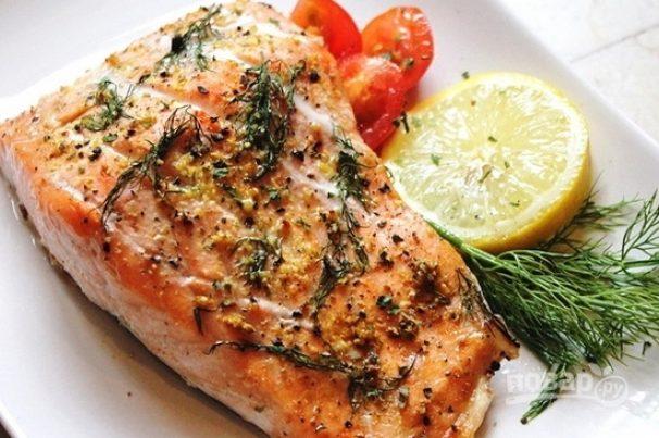 как запечь лосося в духовке в фольге стейк