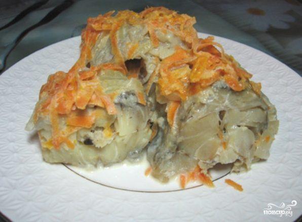 рецепт тушеного минтая с морковкой и луком