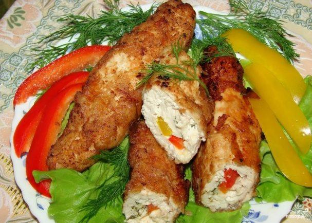 Куриное филе со сладким перцем