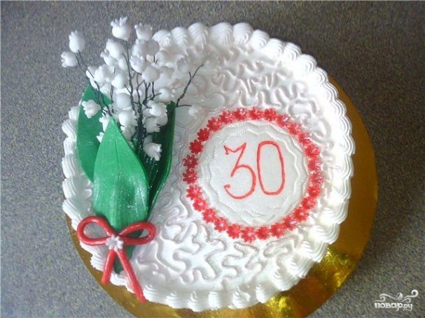 Торт для девушки на 30 лет