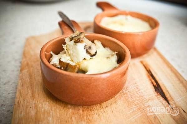 жульен из шампиньонов классический рецепт с фото