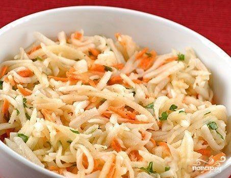 Морковь по-корейски с капустой