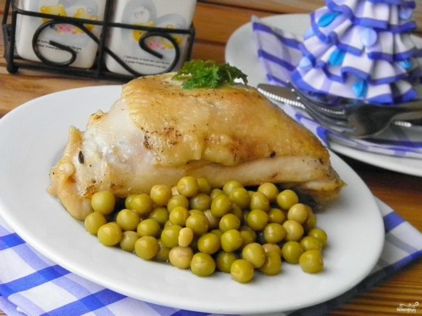 Куриные бедра на сковороде