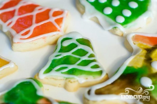 Печенье с глазурью (новогоднее)