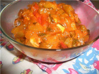 Салат из кабачков и огурцов