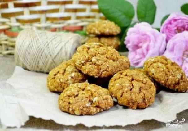 Овсяное печенье из геркулеса