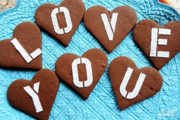 Печенье на день влюбленных