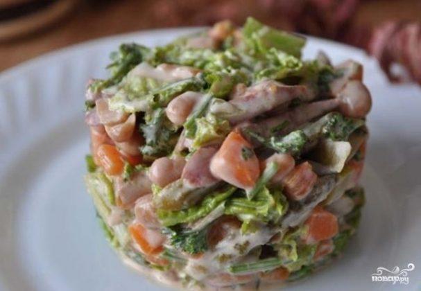 Колбасный салат по-немецки