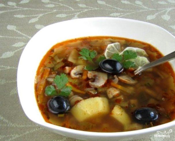 Рецепт приготовления грибная солянка