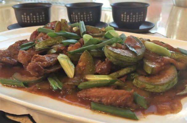 Свинина с кабачками по-китайски