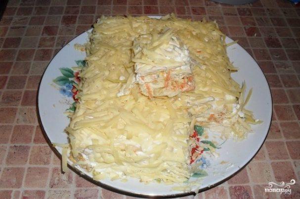 """Рыбный пирог из коржей """"Наполеон"""""""