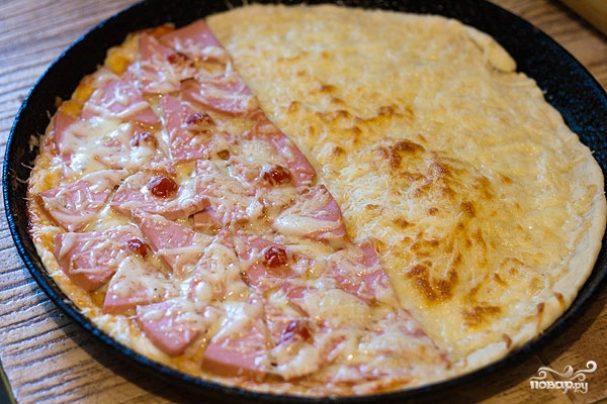 Пицца с сырной корочкой