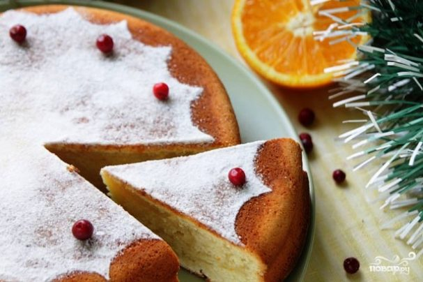 Греческий новогодний торт