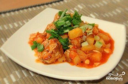 Рыба по-тайски в кисло-сладком соусе