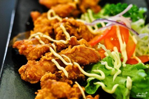 Жареная курица в японском стиле