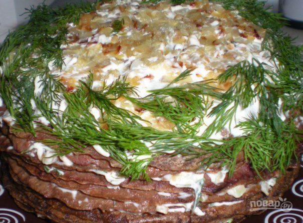 Рецепт печеночного тортика