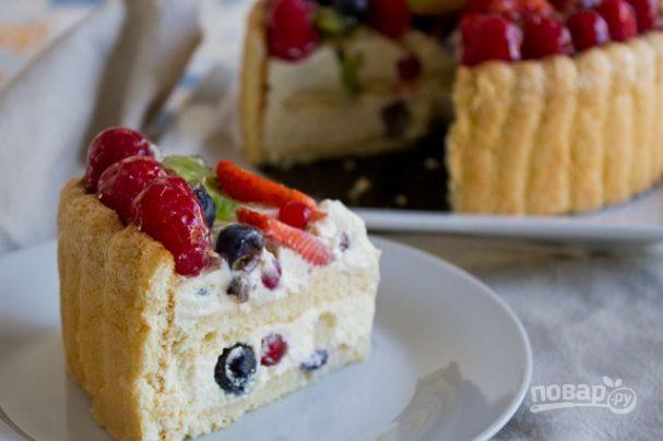 Шарлотка бисквитная (торт)