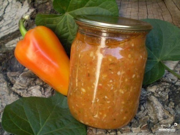аджика из помидоров с чесноком пошаговый рецепт
