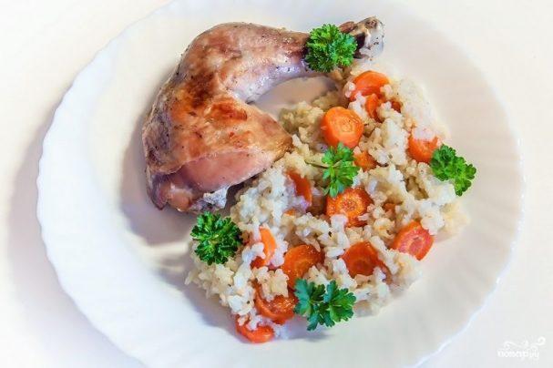 Ленивый рис с курицей
