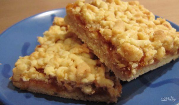 Рецепт кудрявого пирога с вареньем