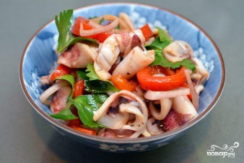 Салат из кальмаров пошаговый рецепт 85