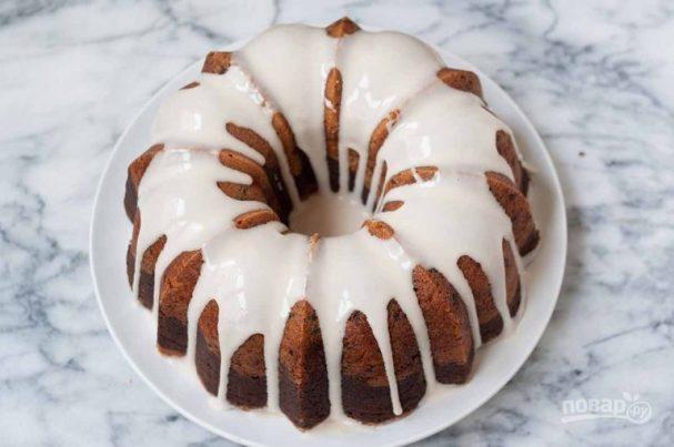 Ванильно-шоколадный кекс