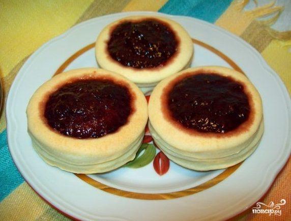 Печенье на маргарине с вареньем