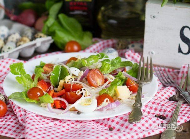 Салат из перепелиных яиц