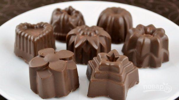 Десерт творожный в шоколаде