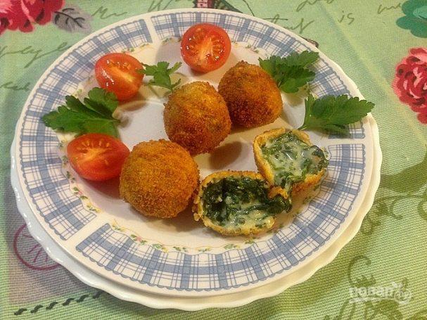 Крокеты из шпината с сыром