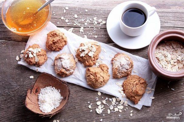 Овсяное печенье с кокосовой стружкой