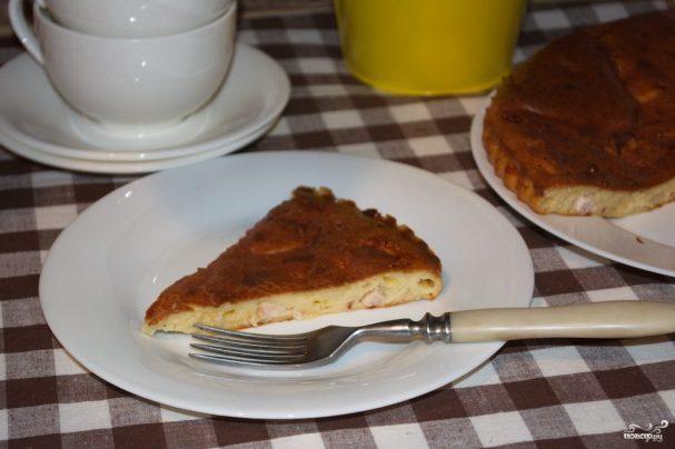 Пирог на сметане с курицей