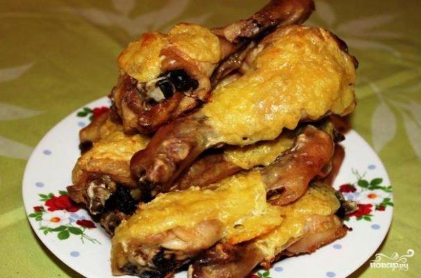 Куриная голень с сыром