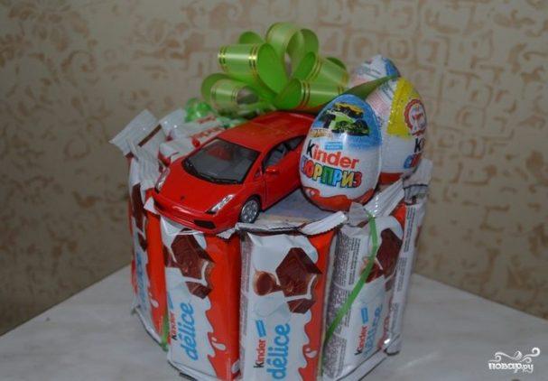 торт из конфет на день рождения мальчика