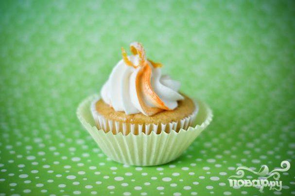 Апельсиновые капкейки с глазурью