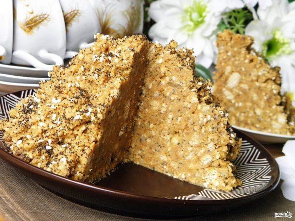 Муравейник торт рецепт из печенья со сгущенкой с фото пошагово