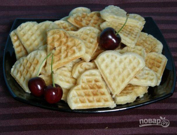 Рецепт печенья для электровафельницы пошагово