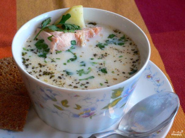 Норвежский рыбный суп со сливками