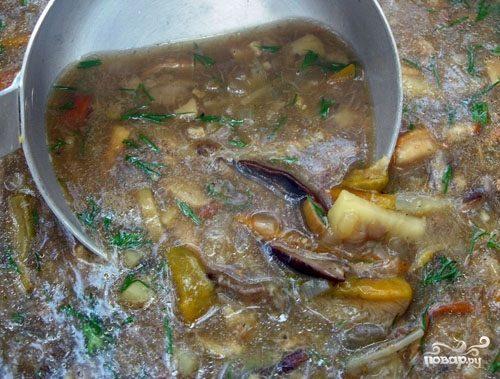 Пассерованный грибной суп