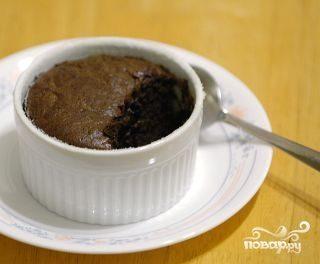 Суфле из черного шоколада