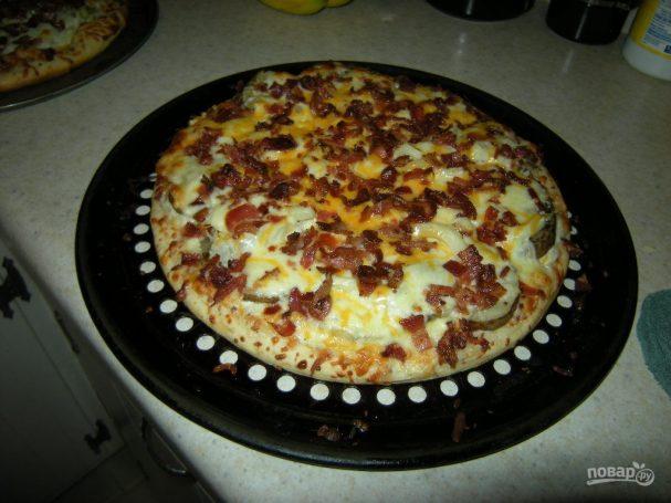 Пицца в духовке (тесто покупное)
