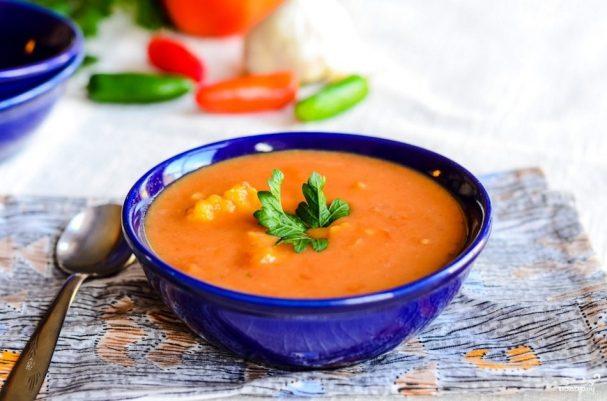 Суп-пюре овощной приготовления