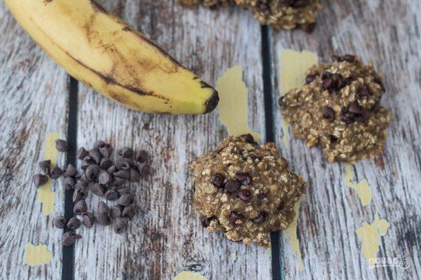 Здоровое печенье из банана