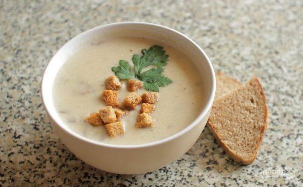 Сырный крем-суп с курицей