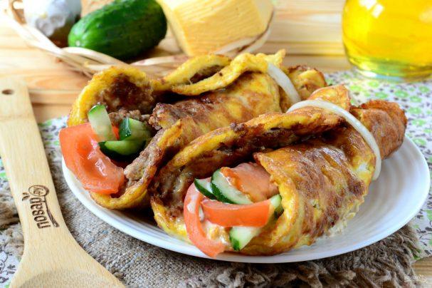 Мясные блюда из слоёного теста