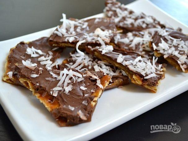 Десерт из крекеров с шоколадом