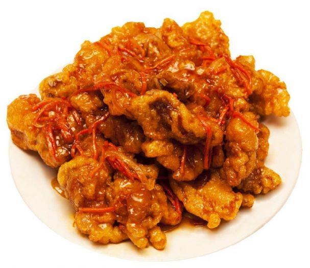 Кубаро (мясо в кисло-сладком соусе)