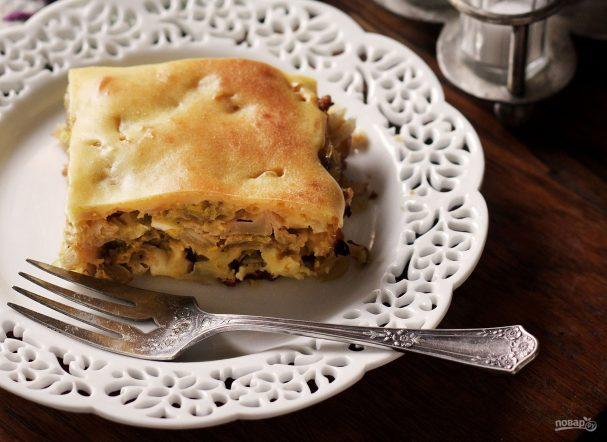 Пирог с капустой простой