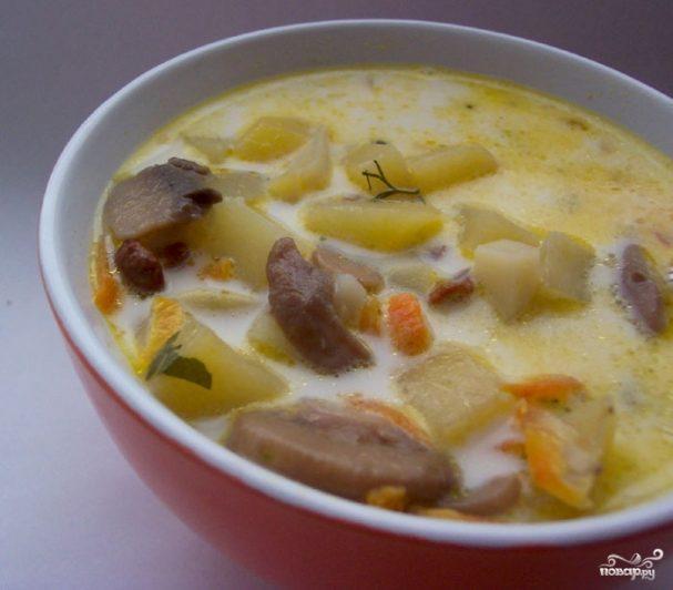 Рецепт суп з грибами