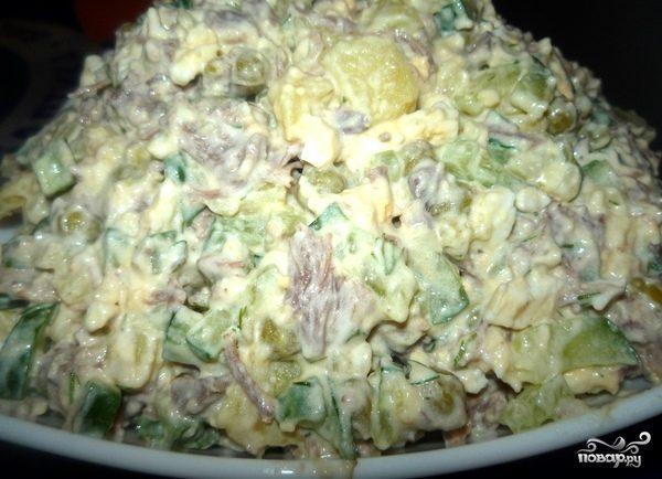 мясной салат с говядиной рецепт
